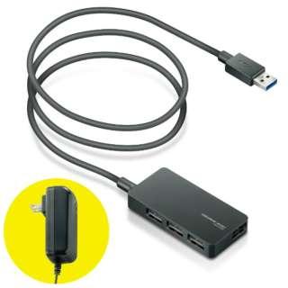 U3H-A408SX USBハブ ブラック [USB3.0対応 /4ポート /セルフパワー]