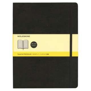 クラシック ノートブック ソフトカバー スクエアード(方眼) ブラック XL