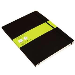 クラシック ノートブック ソフトカバー プレーン(無地) ブラック XL
