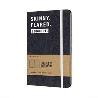 デニム素材の限定版ノートブックLargeルールド(横罫)SKINNY