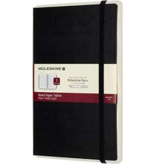 ペーパータブレットペン+1ハードカバー ルールド(横罫)ブラックLarge