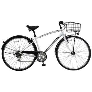 27型 自転車 オネストワン(ホワイト/外装6段変速) PB-19-036【2019年モデル】 【組立商品につき返品不可】
