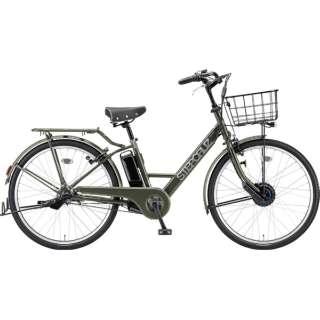 26型 電動アシスト自転車  ステップクルーズ e(T.Xマットカーキ/内装3段変速) ST6B49【2019年モデル】 【組立商品につき返品不可】