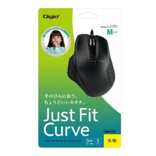 MUS-UKF156BK マウス Digio2 Just Fit Curve ブラック [BlueLED /5ボタン /USB /有線]