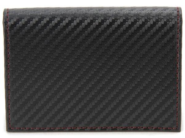 モンテスピガ monte SPIGA モンテスピガ 名刺入れ MOSQS618ABKRD カーボン調 カードケース ブラック