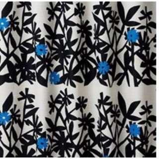 ドレープカーテン クチナシ(100×135cm/ブラック)【日本製】
