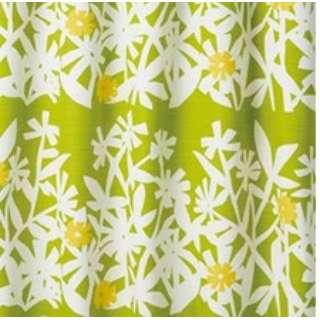 ドレープカーテン クチナシ(100×135cm/イエローグリーン)【日本製】