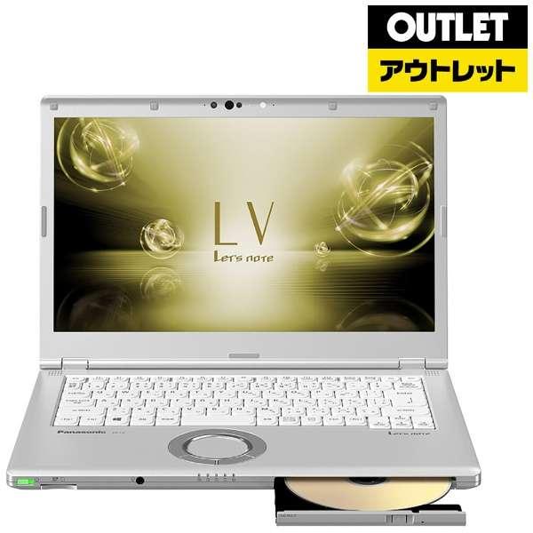 【アウトレット品】 14.0型ノートパソコン[Win10 Pro・Core i5・SSD 128GB・メモリ 8GB・Office Home and Business] Let's note(レッツノート)LVシリーズ CF-LV72DFQRシルバー 【外装不良品】