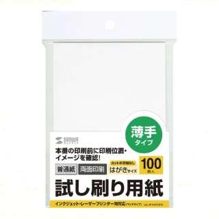 試し刷り用紙(はがきサイズ・100枚入り) JP-HKTEST6