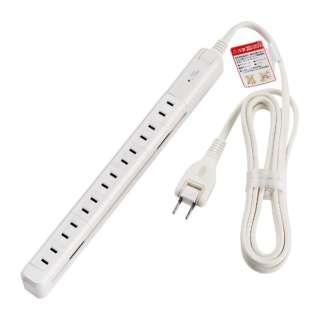 タイライ7P2Mスリム回転タップ WBS-SL702SB(W) ホワイト [2m]