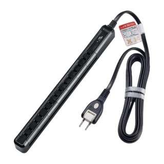 スリム回転タップ ブラック WBS-SL702SB(BK) [2.0m /7個口 /スイッチ無]