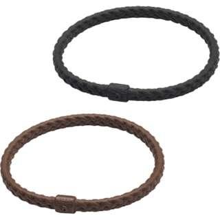 RAKUWAブレスS レザータッチ(ブラック、ブラウン 2色セット/17cm)