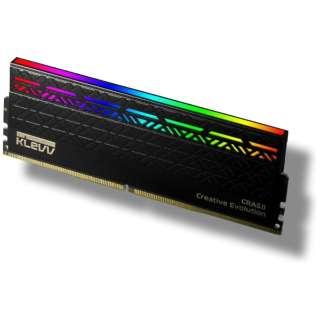 ESSENCORE KLEVV デスクトップ オーバークロックPC用 メモリ DDR4-3200 8GB×2 RGB 288pin KM4Z8GX2A-3200-R [DIMM DDR4 /8GB /2枚]