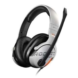 ROC-14-801-AS ゲーミングヘッドセット Khan AIMO ホワイト [USB /両耳 /ヘッドバンドタイプ]