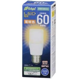 LDT7L-G AG20 LED電球 E-Bright ホワイト [E26 /電球色 /1個 /60W相当 /T形 /全方向タイプ]