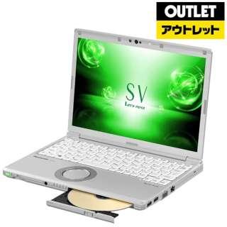 【アウトレット品】 12.1型 ノートパソコン[Win10 Pro・Core i5・SSD 256GB・メモリ 8GB・Office Home & Business] Let's note(レッツノート)SVシリーズ CF-SV72FGQR シルバー 【外装不良品】