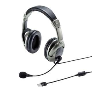 USBヘッドセット MM-HSU10GM [USB /両耳]
