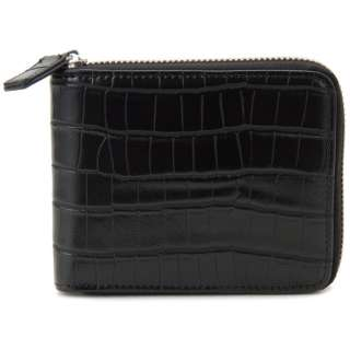 monte SPIGA モンテスピガ 二つ折り財布 MOSQS553BBK クロコ型押し ブラック メンズ