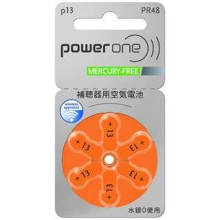 PW048 補聴器用電池 空気亜鉛電池/無水銀タイプ powerone [PR48(13)]