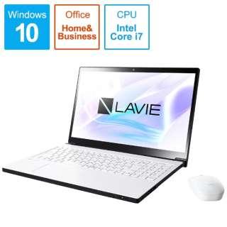 LAVIE Note NEXT ノートパソコン プラチナホワイト PC-NX750LAW [15.6型 /intel Core i7 /HDD:1TB /Optane:16GB /メモリ:8GB /2018年10月モデル]