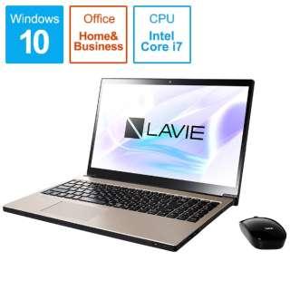 LAVIE Note NEXT ノートパソコン クレストゴールド PC-NX750LAG [15.6型 /intel Core i7 /HDD:1TB /Optane:16GB /メモリ:8GB /2018年10月モデル]