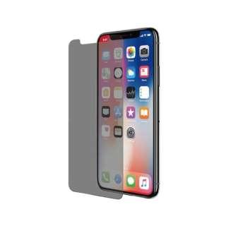 iPhone X/iPhone Xs用 保護強化ガラス 360℃のぞき見防止
