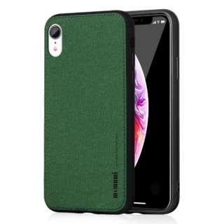 薄型ソフトファブリックTPUケース Fans iphoneXR対応 AFC180406 Green