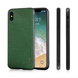 薄型ソフトファブリックTPUケース Fans iphoneXS対応 AFC180606 Green