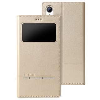 超薄型マグネット開封式スマートレザーケース Wisdom iphoneXR対応 AFC181005 Gold
