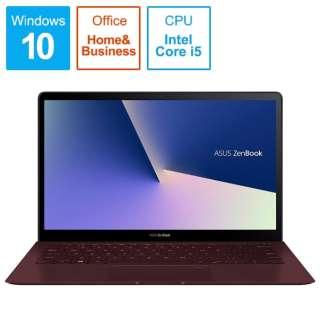 ZenBook Sシリーズ ノートパソコン バーガンディレッド UX391UA-825RS [13.3型 /intel Core i5 /SSD:256GB /メモリ:8GB /2018年10月モデル]