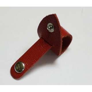 Zip Tie 牛革コードクリップ 3020104 レッド