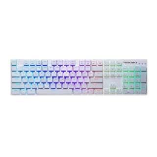 TS-G12ULP-W-BL-JP ゲーミングキーボード 超薄型青軸 TESORO GRAM XS ホワイト [USB /有線]