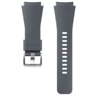 【純正】Galaxy Watch交換用ストラップ シリコン 22mm ET-YSU80MJEGWW グレー