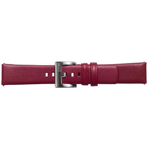 【純正】Galaxy Watch交換用ストラップ レザー 20mm GP-R815BREECAB レッド