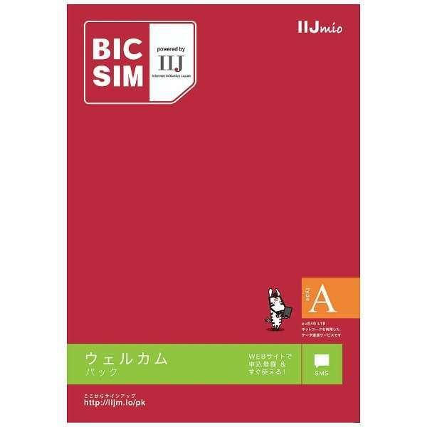 マルチSIM「BIC SIMタイプA」データ通信専用・SMS対応 au対応SIMカード IMB243 [SMS対応 /マルチSIM]