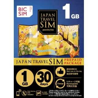 マルチSIM 「BIC SIMジャパントラベルパッケージ」 1GB IMB253 [SMS非対応 /マルチSIM]