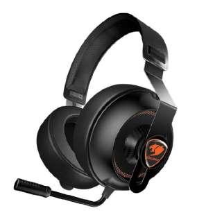 CGR-P40NB-150 有線ゲーミングヘッドセット PHONTUM Essential ブラック [φ3.5mmミニプラグ /両耳 /ヘッドバンドタイプ]