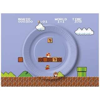 スーパーマリオ ホーム&パーティ ペーパープレートセット(8-bit ステージ)