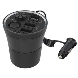 EM160 モニターUSBカップソケット 3ポート搭載(3ポート合計4.8A)