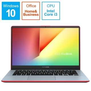 VivoBook S14 ノートパソコン スターリーグレーレッド S430UA-SGBKS [14.0型 /intel Core i3 /HDD:1TB /Optane:16GB /メモリ:4GB /2018年11月モデル]