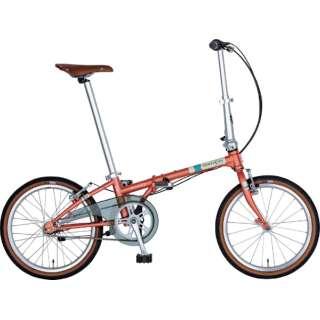 20型 折りたたみ自転車 Boardwalk i5(マットコーラル/内装5段変速)HAC052【2019年モデル】 【組立商品につき返品不可】