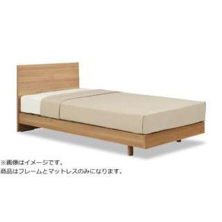 【フレーム&マットレス】フランスベッド 収納なし メモリーナ65[レッグ/スノコ床板](シングルサイズ/ナチュラル) + ZT-030セット【日本製】