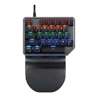 AS-K27 ゲーミングキーボード 片手用 ブラック [USB /有線]