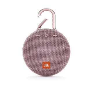 ブルートゥーススピーカー JBLCLIP3PINK ピンク [Bluetooth対応 /防水]