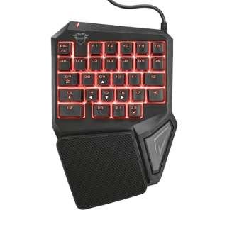有線ゲーミングキーボード 片手用 GXT888 Assa Single Hand Keyboard 22881