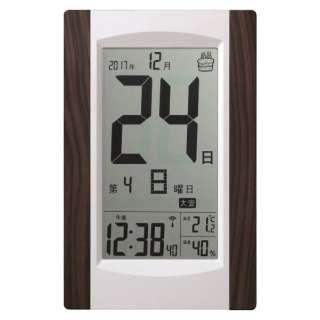 大きい日付表示のデジタル日めくり電波時計 KW9256