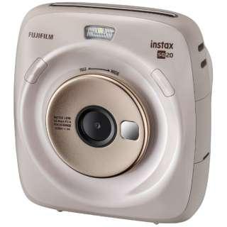 ハイブリッドインスタントカメラ 『チェキ』 instax SQUARE SQ20 ベージュ