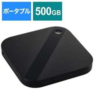 ELP-SHU005UBK 外付けHDD ブラック [ポータブル型 /500GB]
