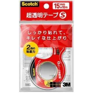 [テープ] スコッチ 超透明テープS 小巻 (15mmx10m) CC1510-D-N