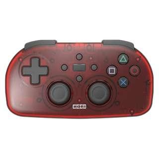 ワイヤレスコントローラーライト for PlayStation4 クリアレッド PS4-134 【PS4】